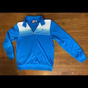 Blue and White Puma Sweatshirt